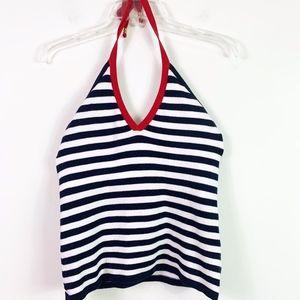 🍒Lauren Ralph Lauren Halter Knit Top Small euc